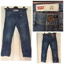 Levi Strauss 511 Blue Jeans Slim Fit Size 8 W24 L22 Levis (800)