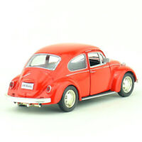 1:36 Scale VW Beetle 1967 Model Car Alloy Diecast Gift Toy Vehicle Kids Red