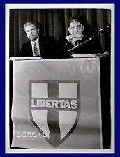 FOTOGRAFIA PRESS PHOTO 1990 ROBERTO FORMIGONI ROCCO BUTTIGLIONE PARTITO POPOLARE