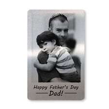 Fathers Day Gift For Dad Personalised Metal Wallet Card Insert From Daughter Son