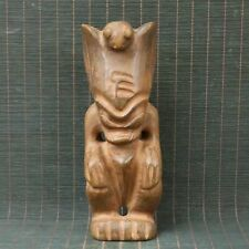 Chinese Exquisite Natural Hand carved Hongshan old Jade Statue 60180