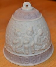 """Annual Christmas Bell Lladro 1987 1st Issue 3 """" Ornament Excellent Condition"""
