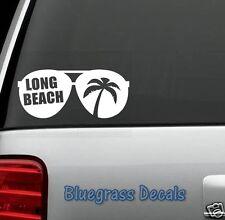 D1061 LONG BEACH VACATION AVIATOR Decal Sticker Car Truck Laptop Mac BEACH SUN