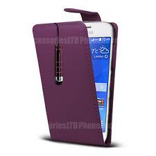 Para los modelos de teléfono Samsung Galaxy-Estuche de Cuero Abatible Cubierta Petaca + Mini Stylus