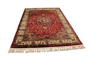 Red Silky Afghan Designed Rug Small Medium Large Runner
