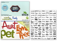 SLICE DESIGN CARD WORDS & EXPRESSIONS FAMILY USE WITH CORDLESS DIGITAL DESIGNER