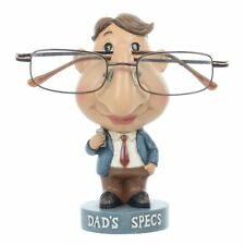 Novelty Reading Glasses Holder Dads Specs Stand Figure Hand Painted Resin Statue