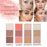 Makeup Highlighter Powder Palette Concealer Illuminator Face Highlighter Bronzer