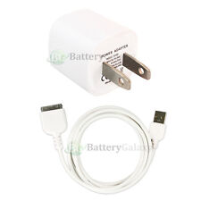 HOT! USB Home Wall Charger+Cable Data Cord for Apple iPod Nano 1G 2G 3G 4G 5G 6G