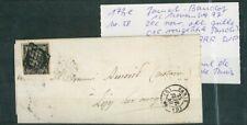 À VOS OFFRES ! [120] CERES lettre timbre 3 cachet à date rougeâtre Paris Baudot