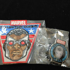 Marvel Collectors Corps Avengers Iron Man Pin & Falcon Patch
