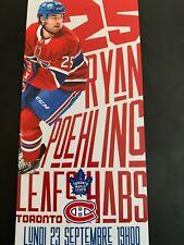unused season hockey  tickets Montreal Canadiens  Ryan Poehling