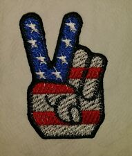 American flag peace sign motorcycle biker embroidered vest patch iron on New