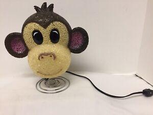 Monkey Face Night Light on Spring w/ Flexible Plastic Material Jungle Theme