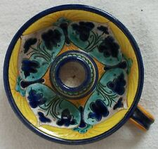 Faenza pottery candle holder