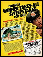 1982 Theragran M Sweepstakes Winner Takes All Travel Vintage 1980s Print Ad