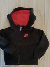 Nike (12M) infant girls black / pink hoodie zip up sweatshirt