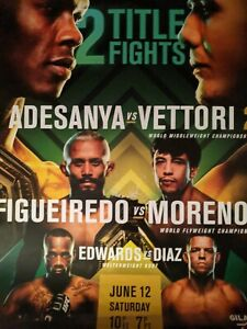 """UFC 263 ADESANYA  Official 22""""x 28"""" Official Posters NEW Poster"""
