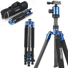 ZOMEI heavy-duty Carbon Fiber Camera Tripod Monopod Ball Head for DSLR camera