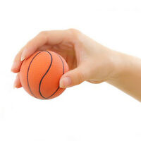 2pcs 6.3CM Basketball Hand Wrist Exercise Stress Relief Squeeze Soft Foam BallRw