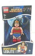 Lego DC Comics Super Heroes Wonder Woman LED Light Up Keyring - Brand New