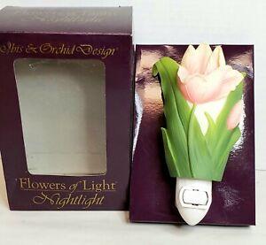 Vintage IBIS & ORCHID Design Flowers of Light Nightlight NIB Tulip