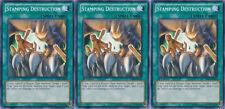 3x Yugioh YSKR-EN034 Stamping Destruction Common Card