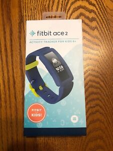 NEW FITBIT ACE 2 ACTIVITY TRACKER FOR KIDS NIGHT SKY BLUE SILICONE SMART WATCH