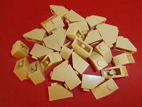 LEGO  30 schräge Bausteine / Dachsteine 3040 in beige 1x2/45° Noppen  NEUWARE