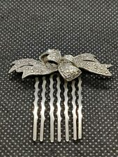 Vintage Silver Small Hair Comb Clip Grip