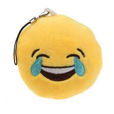 Cute Emoji Smiley Emoticon Laugh To Tears Key Chain Soft Toy Gift Pendant Bag B