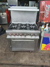 More details for wolf 6 burner natural gas oven range extra strong heavy duty american cooker