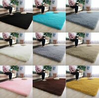 Anti-Skid Fluffy Rug Shaggy Area Living Bed Room Bedroom Modern Carpet Floor Mat