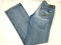 BKE Buckle Women Denim Jeans Kate Boot Cut Stretch 31 x 35 1/2 Blue Distressed