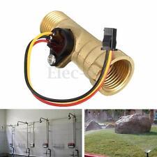 Brass 1/2'' Thread Hall Effect Water Flow Sensor Switch Flow Meter 1.25-30L/min