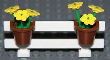 ☀️NEW LEGO City White Fence w/ Flowers Belville House Garden Girl Minifigure #5