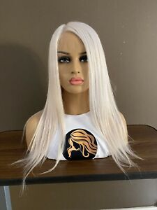 """Wig Human Russian Virgin Cuticle Aligned Swiss Full Lace 18"""" Snow White"""