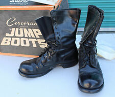 Vintage Corcoran Jump Boots Black Leather Military Combat Paratrooper Box 10.5 E