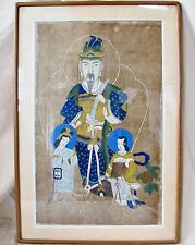 "Antique ? BIG Framed Chinese Painting of Emperor or Immortal  (Art 30"" x 18.5"")"