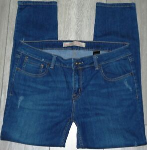 Womens🦋NEXT🦋blue stretch ankle slim denim jeans size 14L