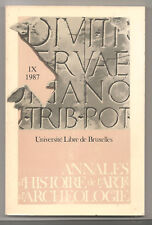 Annales d'histoire de l'art & archéologie N°IX-1987 Université Libre Bruxelles
