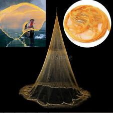 New Nylon Mono Filament Gill Fishing Net Hand Casting Folding Baits Mesh Trap