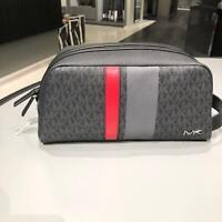 Michael Kors Mens/Womens Toiletry Kit Bag Beauty Cosmetic Case Wash Bag Black