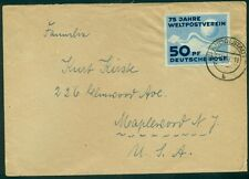 Germany Ddr 1949 50pf (Scott #48) single usage on cover to U.S. Michel $81.00