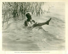 GIA Bathing Alone In a Lake Movie Production Scene Photo