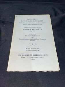 """""""Important Early American Silver"""" 1946 Parke-Bernet Art Auction Catalog"""