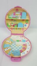 1989 Vintage Polly Pocket Polly's Cafe Pink Compact Bluebird NO Figures