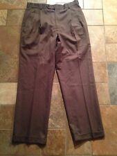 Men's Nautica Brown Pants Sz 34 Inseam 30 Euc