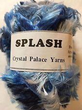 Crystal Palace Splash #7233 Jeans - Blues & White Feather Boa Eyelash Yarn 100gr