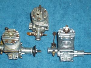 Three McCoy 19  Model Airplane engine